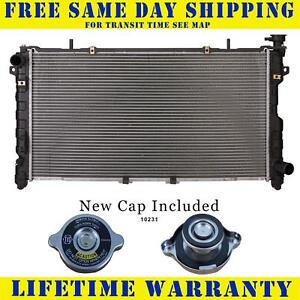 Radiator With Cap For Chrysler Dodge Fits Town And Country Caravan 2 4 2770wc