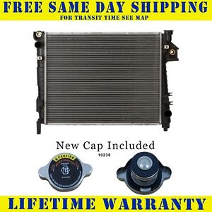 Radiator With Cap For Dodge Fits Ram 1500 2500 3500 Pickup 5 7 V8 8cyl 2813wc