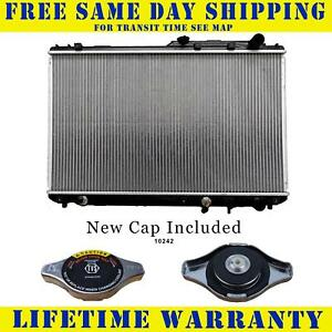 Radiator With Cap For Lexus Toyota Fits Camry Es300 3 0 V6 6cyl 1303wc