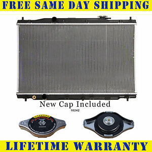 Radiator With Cap For Honda Fits Crv 2 4 L4 4cyl Without Toc 13314wc