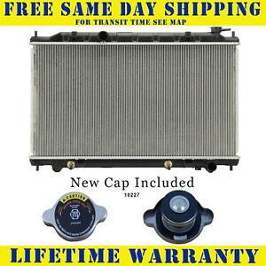 Radiator With Cap For Nissan Fits Altima Maxima 3 5 V6 6cyl 2415wc