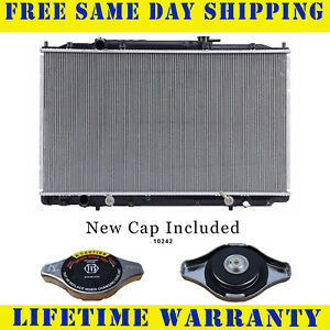 Radiator With Cap For Honda Fits Odyssey 3 5 V6 6cyl 2806wc