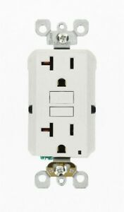 Wall Electrical Outlet 20 Amp 125 Volt White 3 Pack