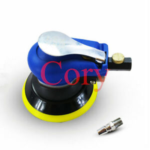1pc Pneumatic Air Polisher Sander 5 Sanding Pad With Wrench 10000rpm Automotive