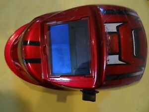 Used Chicago Electric Welding Helmet Mask Auto Darkening Racing Stripes