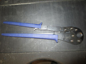 Viega Pureflow 3 4 Pex Crimping Blue Ratcheting Crimper Crimp Plumbing Hand Wow