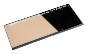 Forney 57061 Lens Replacement Gold Welding Filter 2 inch by 4 1 4 inch Shade 10