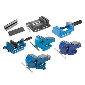4 5 6 Heavy Duty Work Bench Vice Engineer Jaw Swivel Base Workshop Vise Clamp