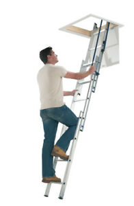 Werner 76013 Easystow 3 Section Hideaway Loft Ladder New