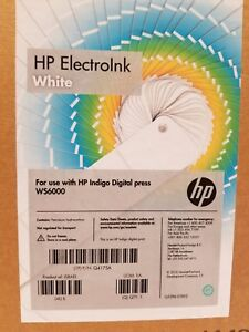 Hp Indigo Electroink White Q4175a 4 Cans For Ws6000