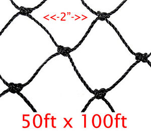 New 100 x50 Anti Bird Baseball Poultry Soccer Game Fish Netting 2 Mesh Hole