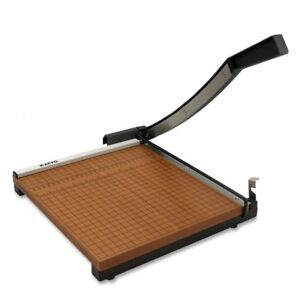 Square Guillotine Paper Cutter Photo Trimmer Commercial Grade Wood Base 12 x12