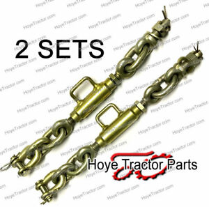 Three Point Hitch Stabilizer Chains pair Yanmar John Deere Tractor