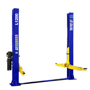Two Post L1200 Auto Car Lift 12 000 Lb Capacity 220v Symmetric Floor Plate