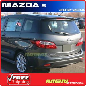 2012 Mazda 5 Wagon Rear Trunk Tail Aero Wing Spoiler Unpainted Smooth Primer