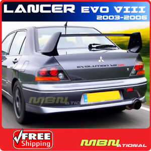 03 06 Mitsubishi Lancer Evo 8 Rear Trunk Tail Wing Spoiler Unpainted Primer