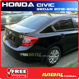 2012 For Civic Rear Trunk Lip Spoiler Painted Abs Painted Nh578 Taffeta White