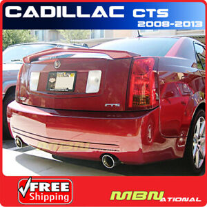 For 08 13 Cadillac Cts 4dr Rear Trunk Tail Wing Spoiler Primer Unpainted
