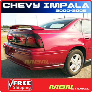 00 05 Chevrolet Impala 4 Door Sedan Rear Trunk Wing Spoiler Primer Unpainted Abs