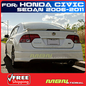 06 11 For Honda Civic 4d 4d 4d Si Style Rear Trunk Tail Wing Spoiler Primer