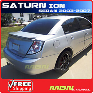03 07 Saturn Ion 4dr Sedan Rear Tail Trunk Wing Spoiler Primer Unpainted Abs