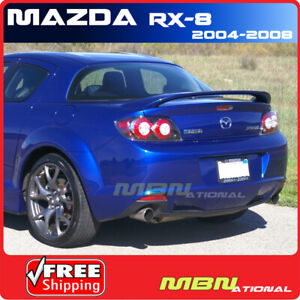04 08 Mazda Rx8 2dr Coupe Rear Tail Trunk Wing Spoiler Primer Unpainted Abs