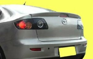 03 09 Mazda 3 4dr Sedan Rear Tail Trunk Lip Spoiler Smooth Primer Unpainted Abs