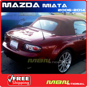 06 15 Mazda Miata Mx5 2dr Rear Trunk Tail Lip Spoiler Primer Unpainted Abs