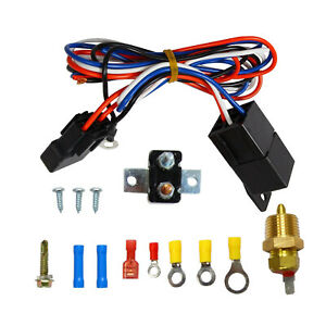 3 8 175 185 Electric Engine Fan Thermostat Temperature Relay Switch Sensor Kit