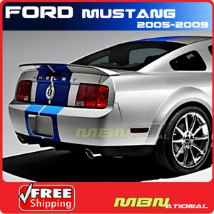 For 05 09 Ford Mustang 2dr Cobra Rear Trunk Wing Spoiler Primer Gt Unpainted Abs