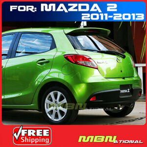 For 11 13 Mazda 2 3dr Hatch Rear Trunk Tail Roof Lip Spoiler Primer Unpainted