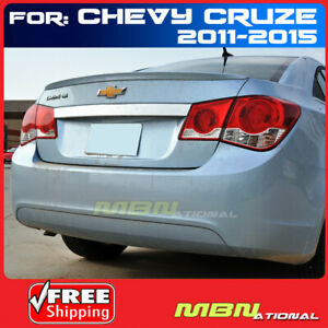 11 Chevy Cruze Ducktail Style Trunk Spoiler Painted Wa501q Black Graphite Met