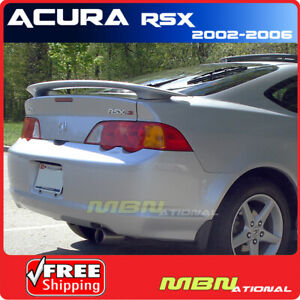 02 06 For Acura Rsx 2d 2d Rear Trunk Wing Spoiler Primer Type S Unpainted Abs