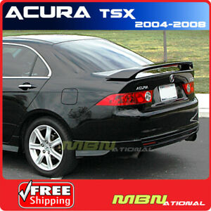 04 08 For Acura Tsx 4dr Sedan Rear Trunk Tail Wing Spoiler Primer Unpainted Abs