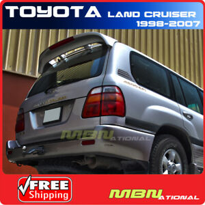98 07 Toyota Land Cruiser 4dr Rear Trunk Tail Wing Spoiler Primer Unpainted Abs
