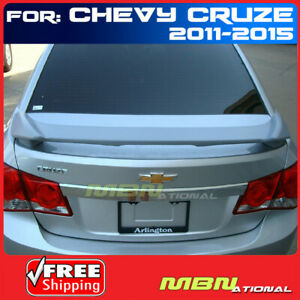 11 15 Chevrolet Cruze 2 Post Rear Trunk Tail Wing Spoiler Primer Unpainted Abs