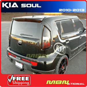 For 10 13 Kia Soul Rear Roof Trunk Lip Spoiler Color Matched Painted 1e Molten