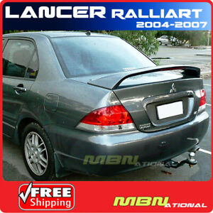04 07 Mitsubishi Lancer Ralliart Rear Trunk Tail Wing Spoiler Primer Unpainted