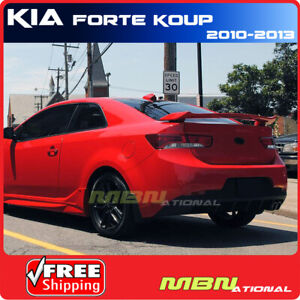 For 10 13 Kia Forte Koup Rear Trunk Spoiler Painted Abs 2 Post 3d Bright Silver