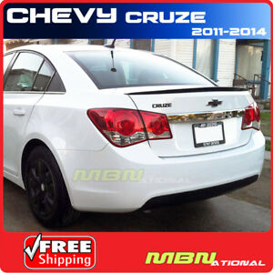 11 Chevrolet Cruze 4dr Aero Rear Trunk Tail Lip Spoiler Primer Unpainted Abs
