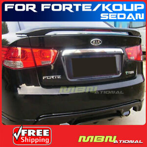 Painted Spoiler For 10 13 Kia Forte Koup Abs Rear Trunk Mount 3d Bright Silver