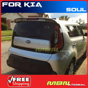 Painted Spoiler For 14 Kia Soul Mount Abs Rear Trunk 3d Bright Silver
