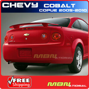 05 10 Chevrolet Cobalt Coupe Rear Trunk Spoiler Painted Wa8624 Polar White