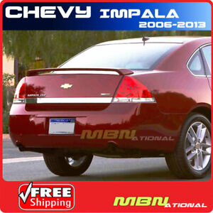 06 13 Chevy Impala Rear Trunk Spoiler Color Match Painted Abs Wa946l Cobalt Red