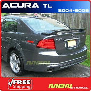 04 08 For Acura Tl Rear Trunk Spoiler 2 Post Painted Nh643m Anthracite Metallic