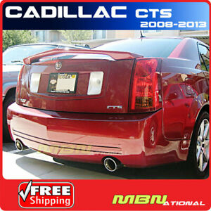 For 08 13 Cadillac Cts Sedan Trunk Spoiler Painted Wa505q Crystal Red Metallic