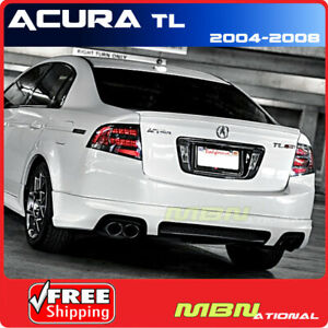 04 08 Acura Tl Rear Trunk Lip Spoiler Painted Abs R522p Redondo Red Pearl