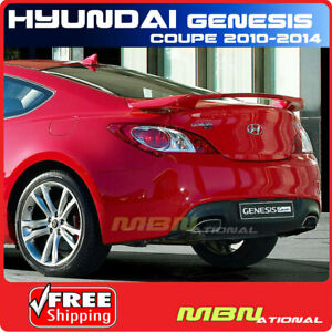 For 10 14 Hyundai Genesis Coupe Rear Trunk Spoiler Painted Nga Super Red