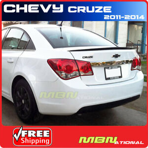 11 Chevy Cruze Sedan Rear Trunk Deck Spoiler Painted Wa501q Black Graphite Met