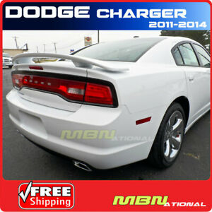 2011 2017 Dodge Charger Rear Trunk Spoiler Color Match Painted Pw7 Bright White